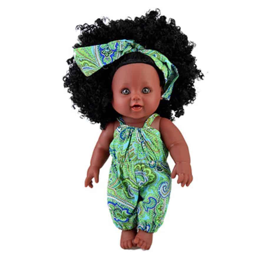 Kinderpop-groen-voorkant-Miss-Alida